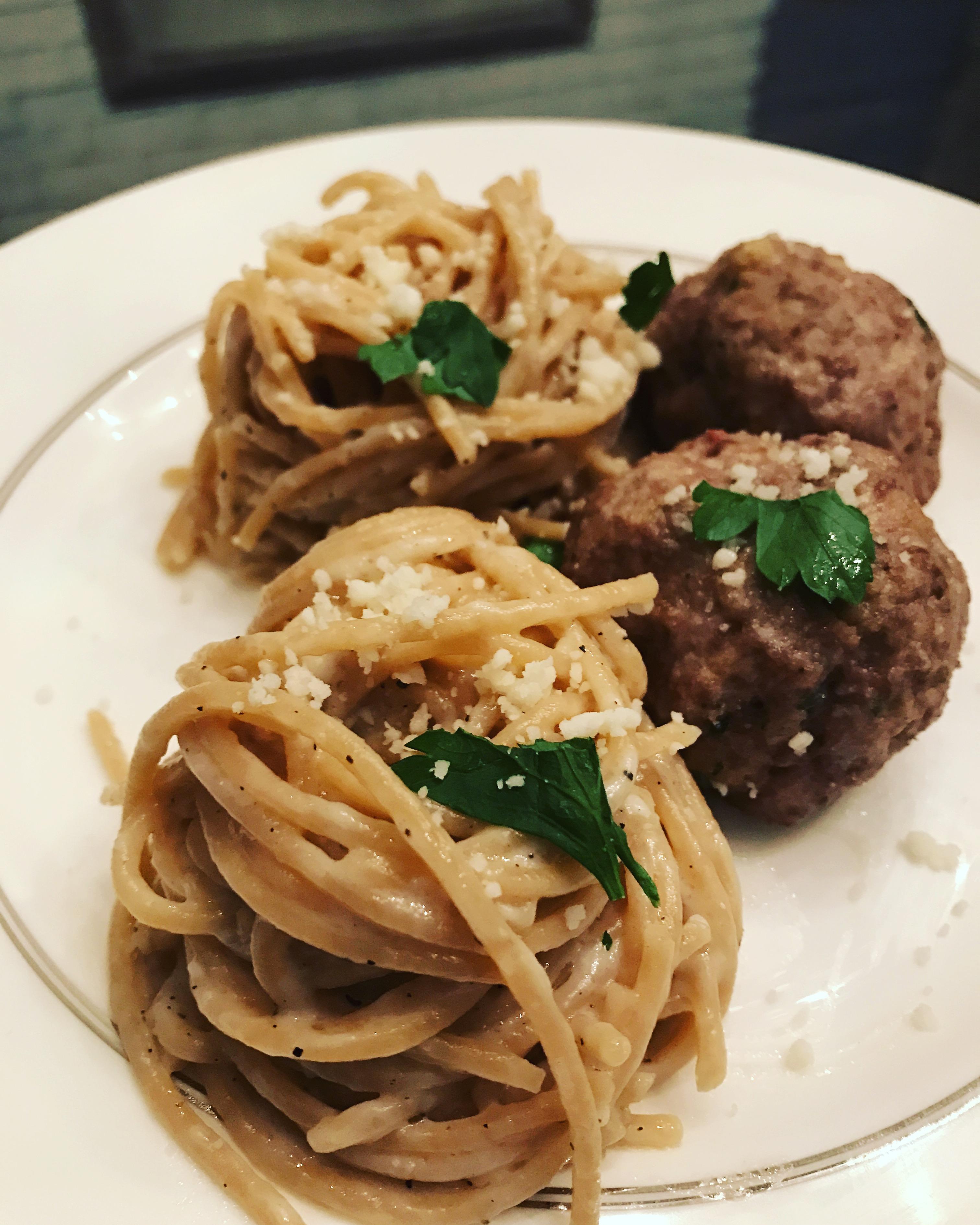 Ricotta Meatballs with Cacio e Pepe Recipe