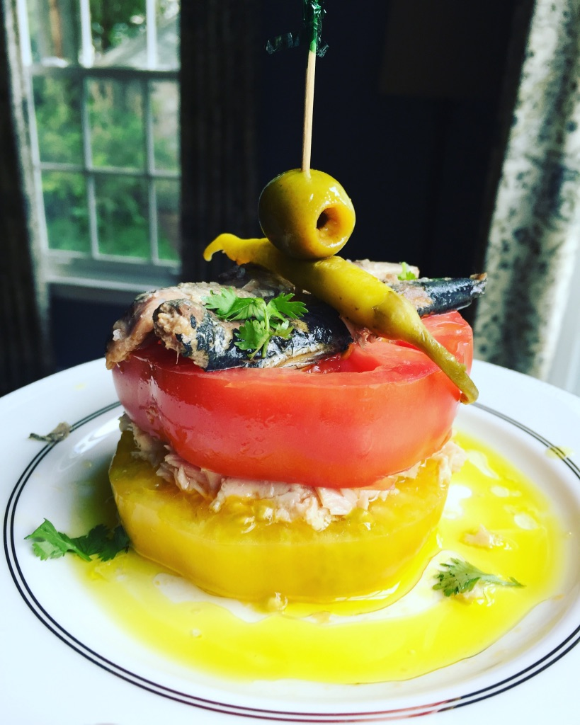A Taste of Summer-Tuna and Tomato Napoleon