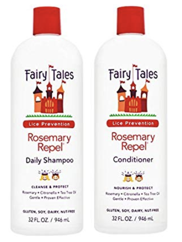 One bottle of Fairy Tales Rosemary Repel Shampoo and one bottle of Fairly Tales Rosemary Repel Conditioner